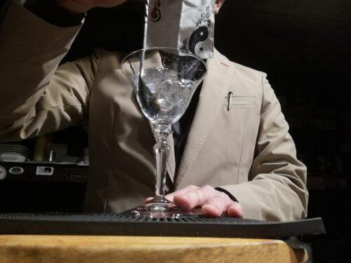 グラスを冷やす